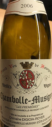 Chambolle-Musigny Les Fremières Digioia-Royer 2006